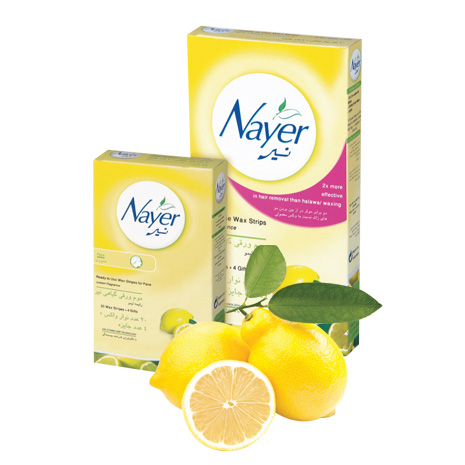 Nayer hair removal wax strips with  lemon  scent