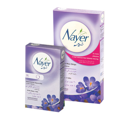 Nayer hair removal wax strips with lavender scent