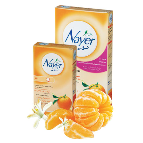 Nayer hair removal wax strips with orange scent